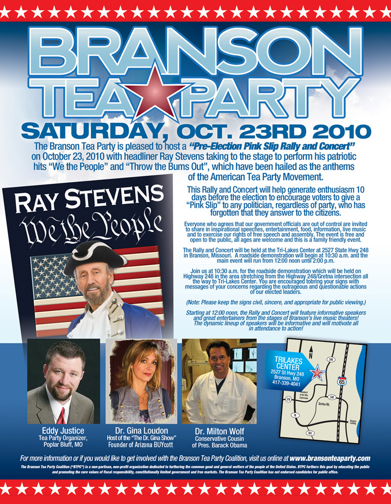 Photo of Join Us at the Branson Tea Party, Saturday, October 23rd