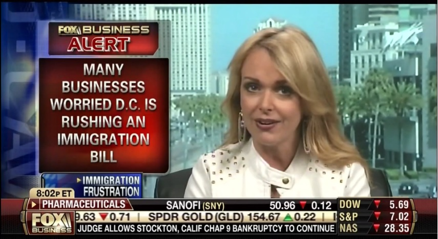 Photo of Dr. Gina talks immigration reform on Fox Business Network