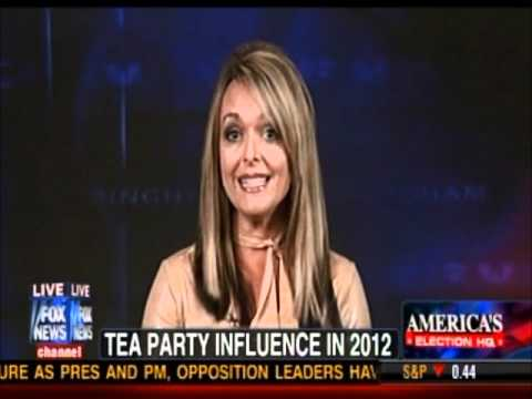 Photo of Dr Gina on Fox News endorses Rick Santorum and discusses the 2012 Tea Party Influence