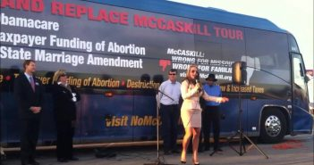 """Dr. Gina Gets Fired Up on the """"No McCaskill"""" Bus Tour"""