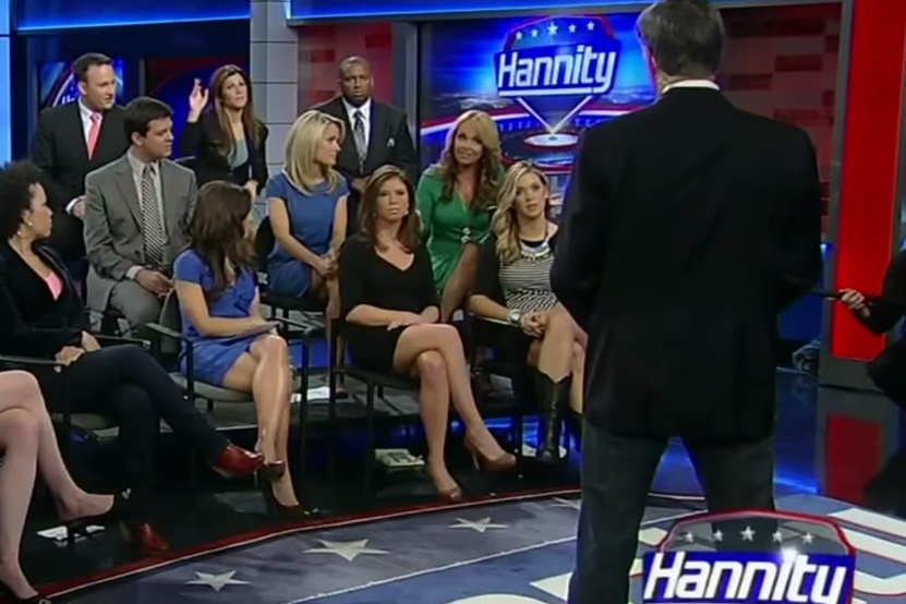 Photo of Dr Gina on Hannity – Political Correctness Theocracy