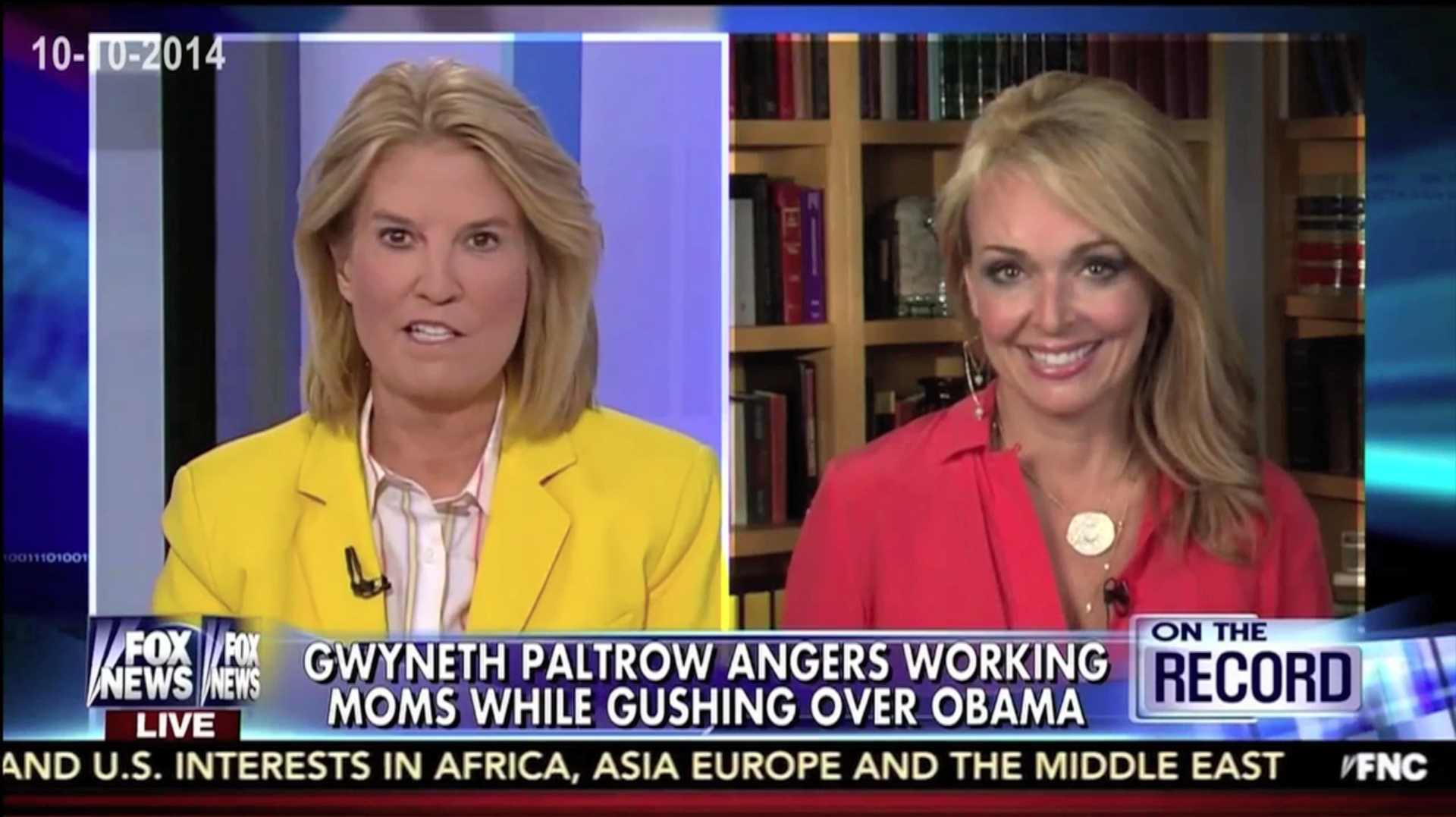 Photo of Dr. Gina & Greta Van Susteren on Gwyneth Paltrow's Love Affair with Obama