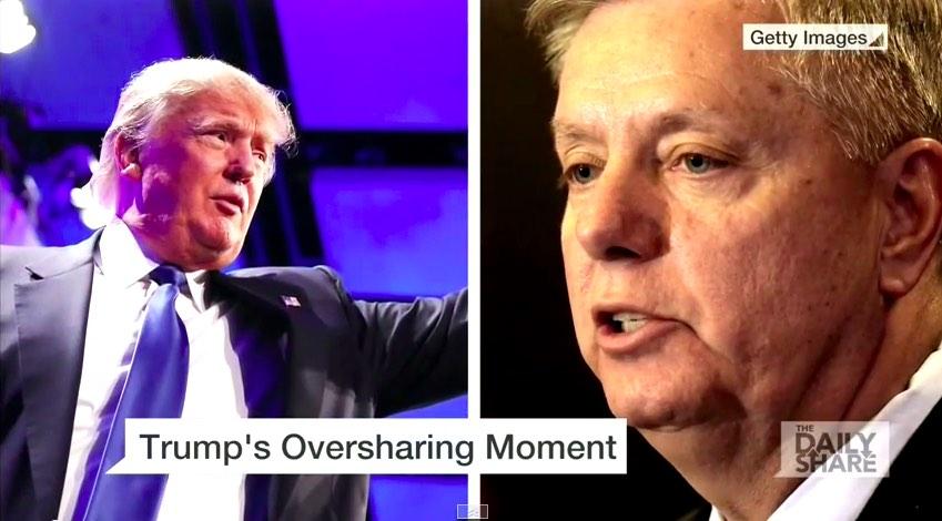 Photo of Donald Trump vs. Lindsey Graham