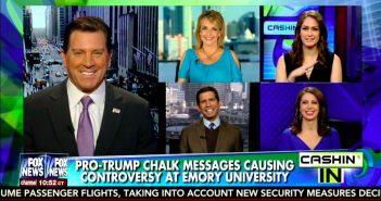 Eric Bolling - Dr Gina Loudon - Jessica Tarlov - Morgan Ortagus - Jonathan Hoenig - Pro Trump Chalkings