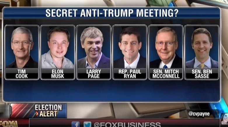 Photo of Secret Anti-Trump meeting between Tech CEOs & GOP Leaders