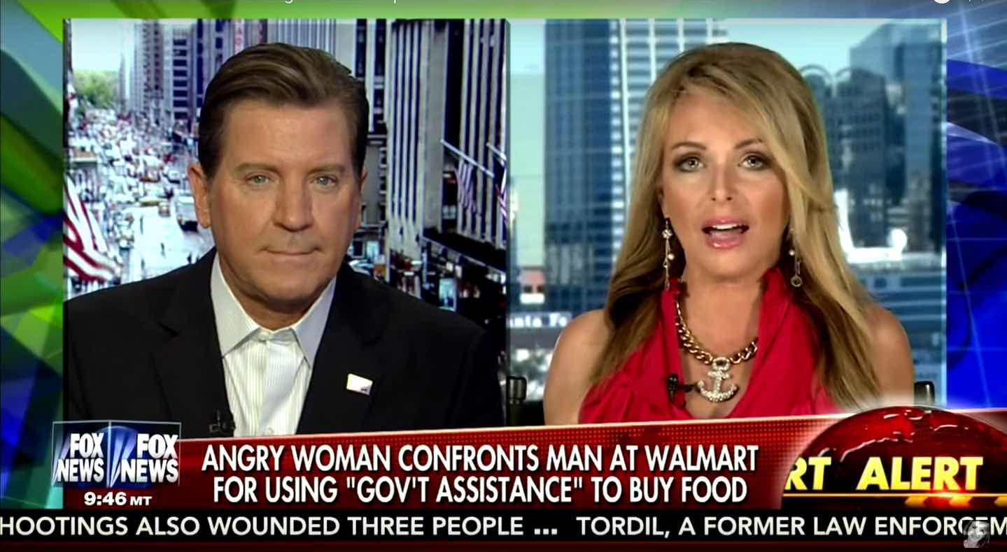 Photo of Woman Confronts Man for Using Food Stamps at WalMart