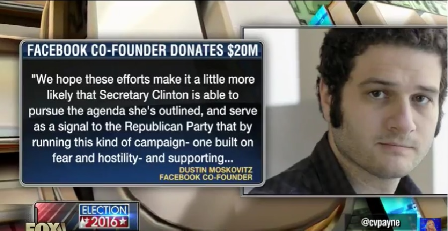Photo of Facebook co-founder pledges $20 million to Hillary Clinton