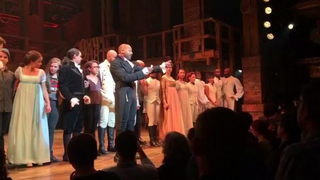 Photo of 'Hamilton' lecture of Pence exposes left's bigotry